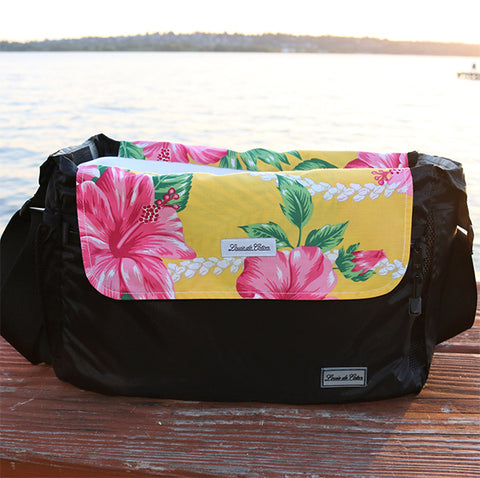 Cooling Pooch Bag Liner - Yellow Hibiscus