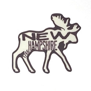 NH 1788 Moose Sticker - Brown