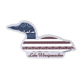 Loon US Flag Lake Winni Sticker