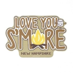Love You S'More NH Sticker
