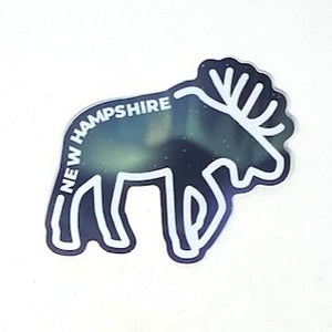 Northern Lights Moose NH Sticker