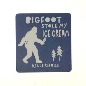 Bigfoot Stole my Ice Cream Kellerhaus Sticker