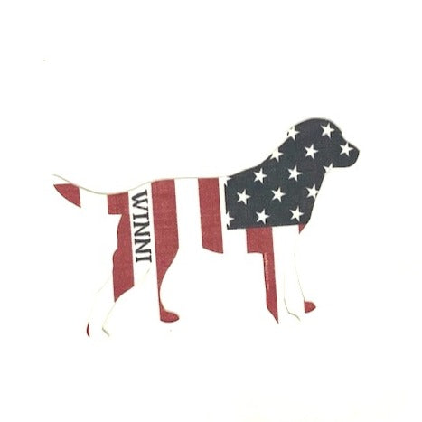 Stars & Stripes Winni Dog Sticker