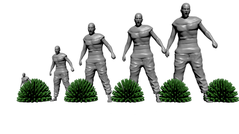 BIG Tufts 7-9mm scale