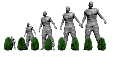 Tall Wild Tufts scale