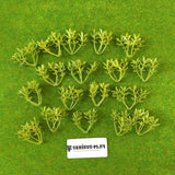 Light Green Plastic Leafy Shrubs (2.5cm)