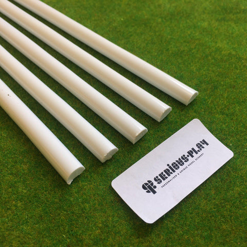Styrene Strips - Half-Round (Solid Semi-Circle) x5