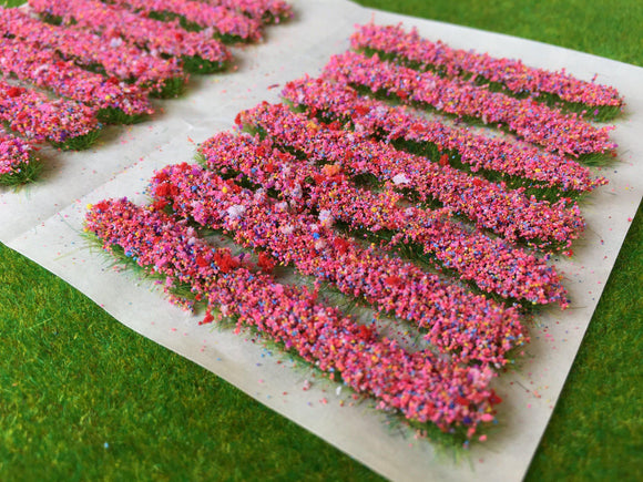 Pink Accent Strips - Garden Flower Tufts