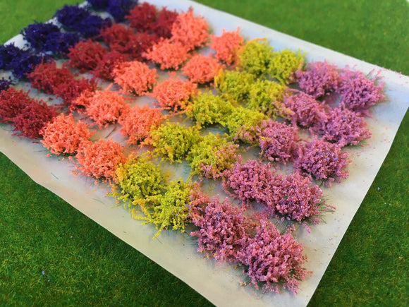 Large Mixed Colour Flower Tufts 6mm