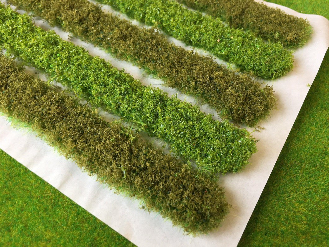 18cm Bushy Hedge Strips #1 - Static Grass Tufts