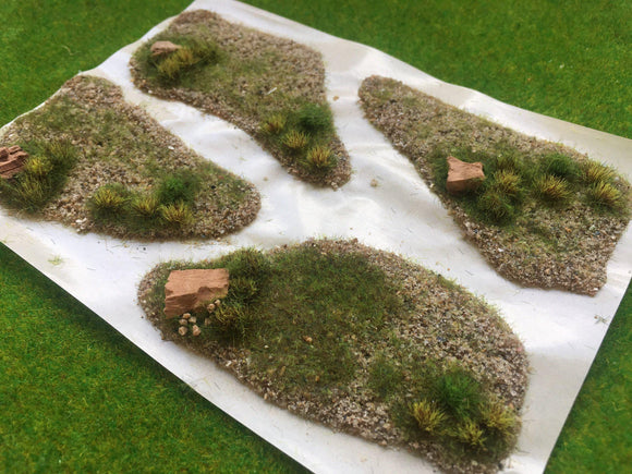 Beach-Grass Textured Tuft Dioramas (4) - Static Grass Tufts