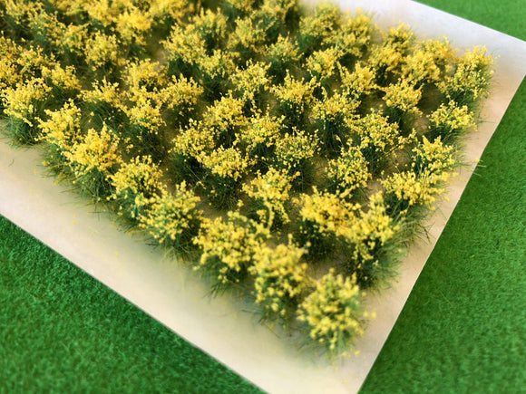 Yellow Spring Wild Flowers - 10-12mm Tall Grass Tufts