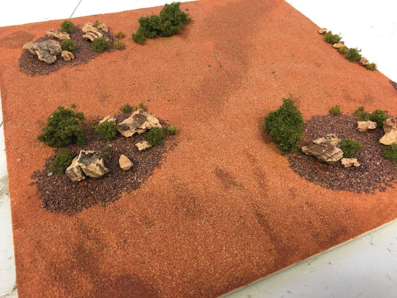 Red Canyon - Scrub and Rocks - Modular Terrain Tiles
