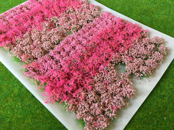 Pink Flowers & Bushes Mix - Static Grass Tufts