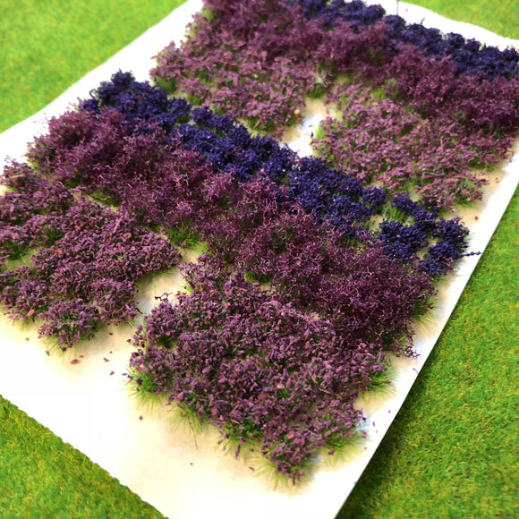 Purple Flowers & Bushes Mix - Static Grass Flower Tufts