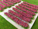 Red Accent Strips - Garden Flower Tufts