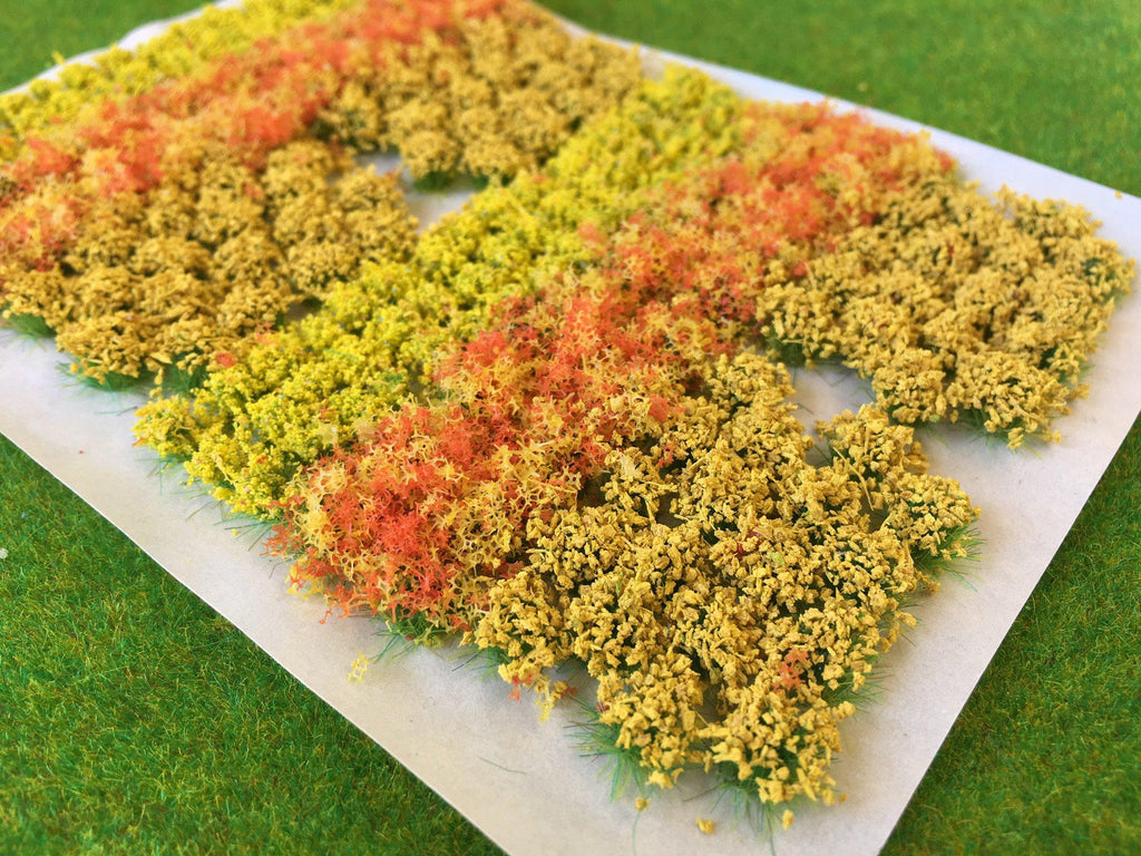 Yellow Flowers Bushes Mix Static Grass Flower Tufts Serious
