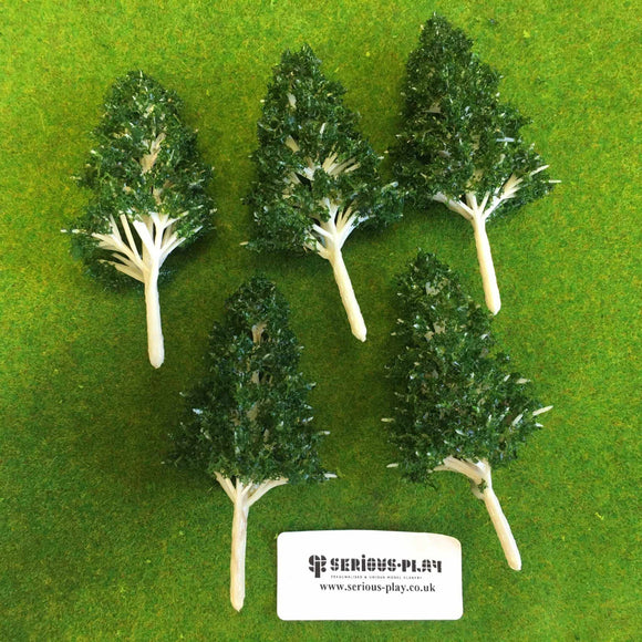 Dark Green Basic Plastic Trees 10cm