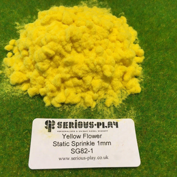 Yellow Flower Static Sprinkle 1mm - Static Grass
