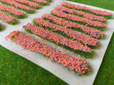 Orange Accent Strips - Garden Flower Tufts