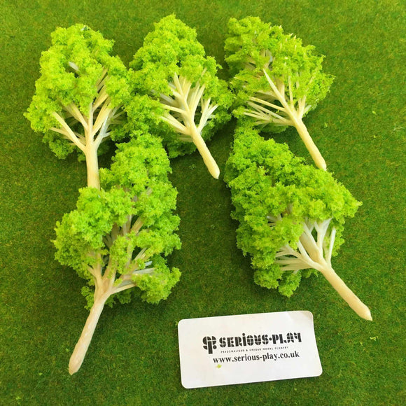 Light Green Basic Plastic Trees 6.5cm