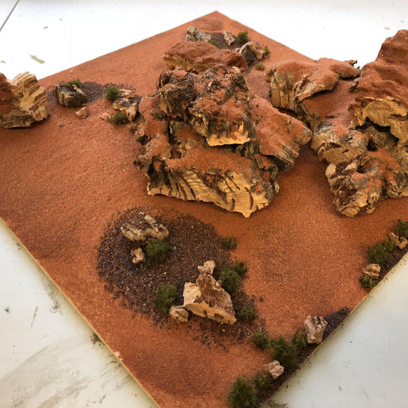Red Canyon - Scrub and Large Cliffs - Modular Terrain Tiles