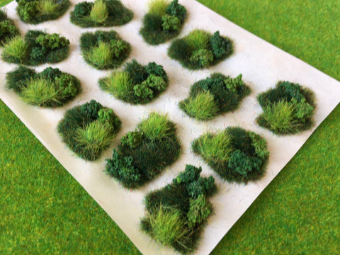 Scrub & Brush Dales Tuft Dioramas - Static Grass Tufts