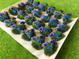Purple and Blue Flowers Tuft Dioramas - Static Grass Tufts