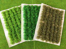 3 x Green Bushy Vegetation - Grass Tuft Set