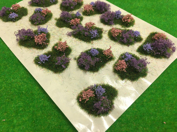 Lavender Flower and Bush Tuft Dioramas - Static Grass Tufts