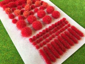Fire Red - Big True Grass Tufts
