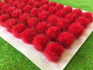 Fire Red 10-12mm - BIG Grass Tufts