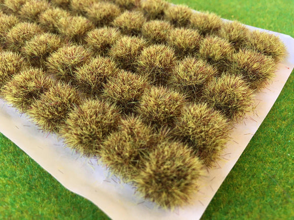Yellow Brown 10-12mm - BIG Grass Tufts