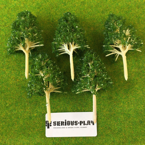 Dark Green Basic Plastic Trees 6.5cm