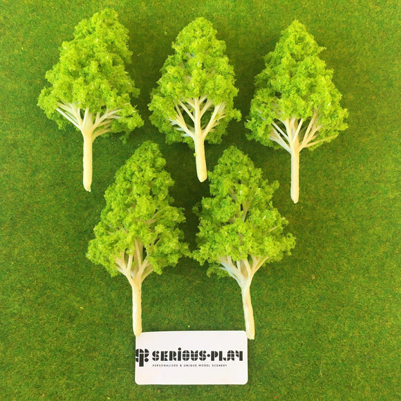 Light Green Basic Plastic Trees 8cm
