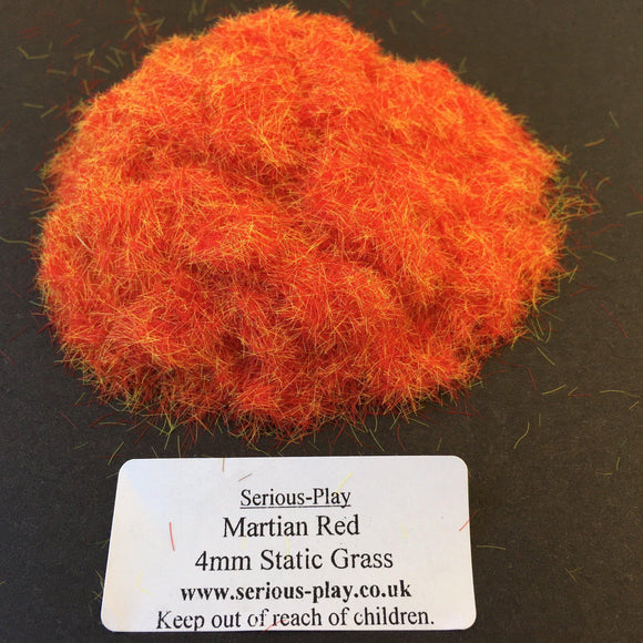 Martian Red 4mm - Static Grass 1kg/500g Bulk Bags