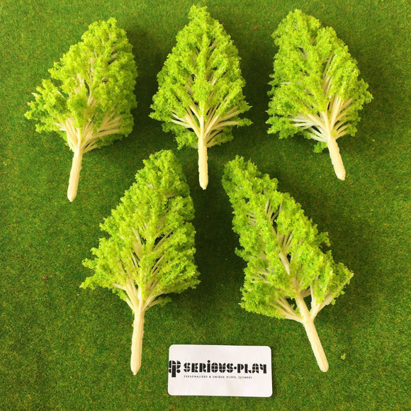 Light Green Basic Plastic Trees 10cm