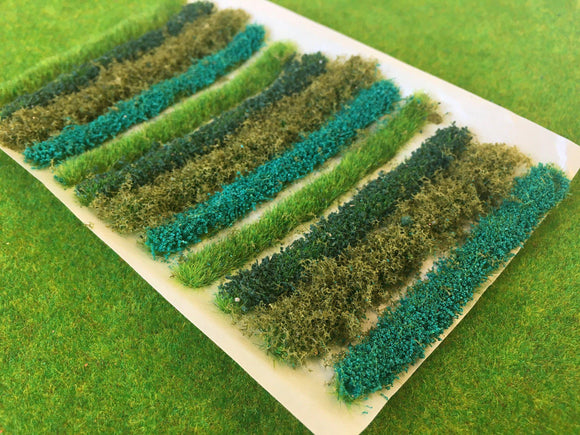 Dark Green Flower Bush & Hedge Strips - Static Grass Tufts