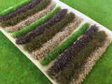 Brown Flower Bush & Hedge Strips - Static Grass Tufts