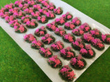 Pink and Rose Flowers Tuft Dioramas - Static Grass Tufts