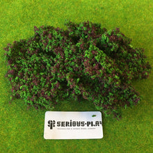 Purple Flower Hedge Clump Foliage