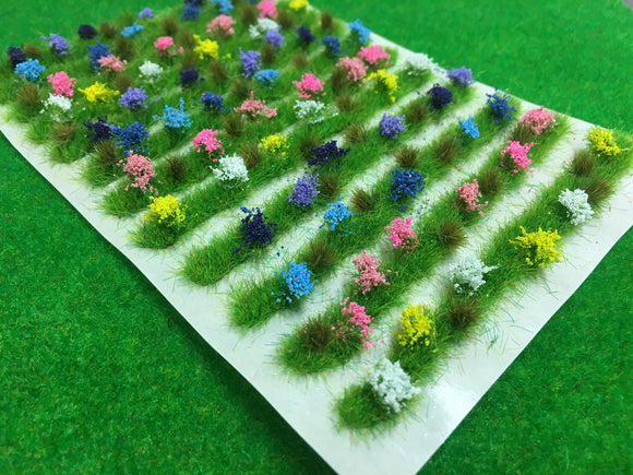 Flower Borders Spring - Static Grass Tufts