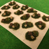 Brown Flower and Bush Tuft Dioramas - Static Grass Tufts