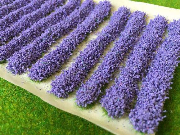 Lavender Flower Strips - Static Grass Tufts