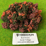 Red Brown Mix Scrub Foliage - Mixed Clump
