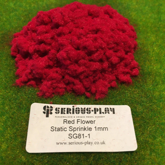 Red Flower Static Sprinkle 1mm - Static Grass