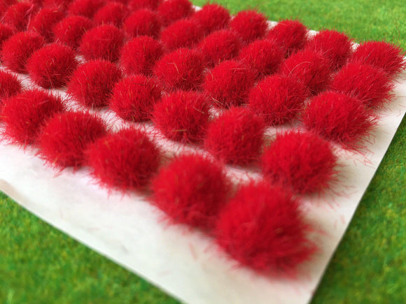 Fire Red 7-9mm - BIG Grass Tufts