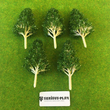 Dark Green Basic Plastic Trees 8cm