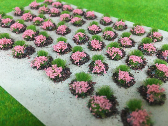 Rose Mini Flower and Grass Dioramas - Static Grass Tufts
