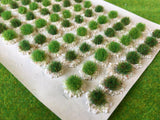 Spring & Summer Green Textured Tufts - Static Grass Tuft Dioramas
